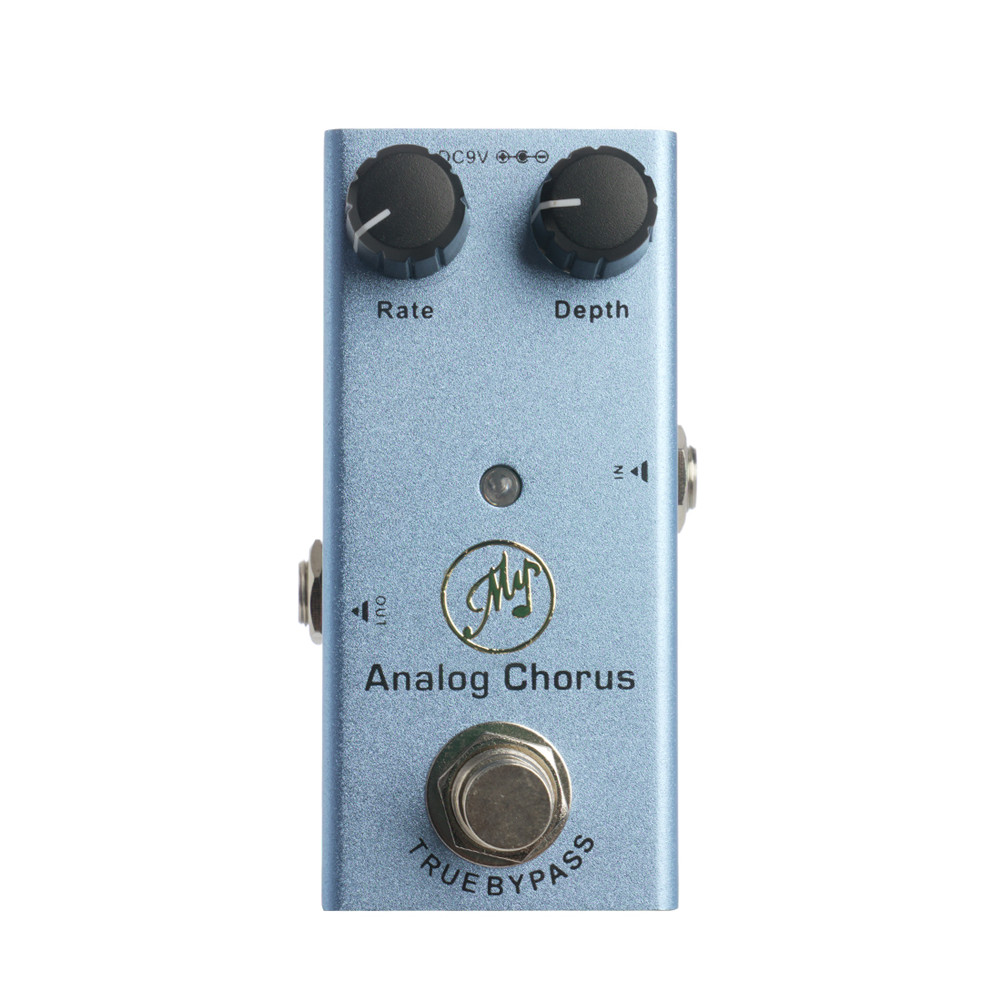 JDF-7 Electric Guitar Effector Analog Chorus Effector with Led Light blue