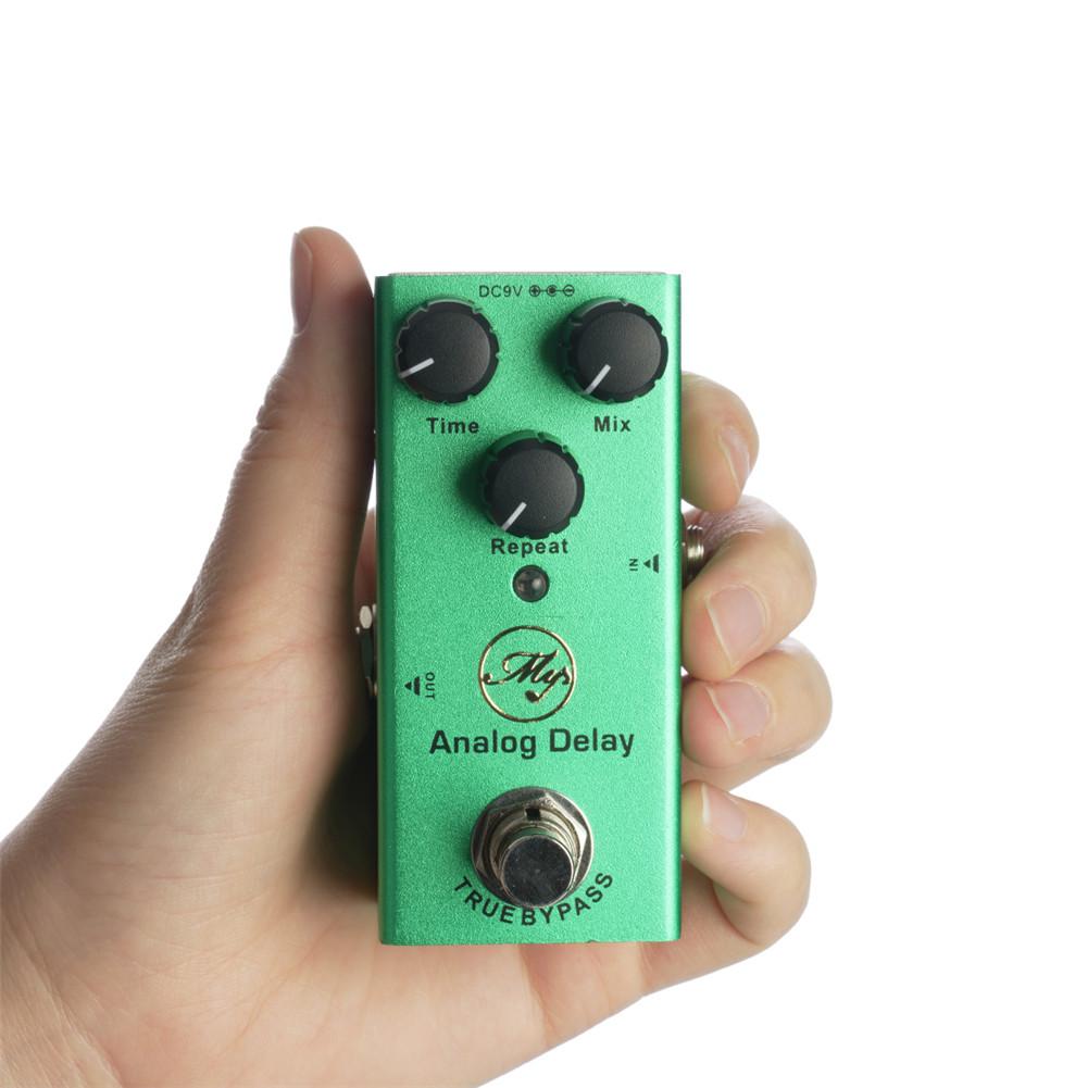 JDF-10 Electric Guitar Effector Analog Delay Effector with Led Light dark green