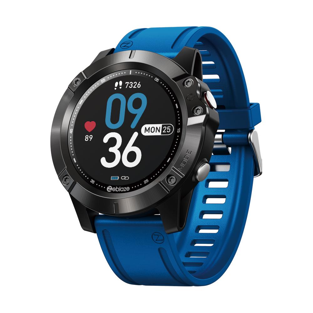 Original ZEBLAZE VIBE 6 Smart Watch Music Player Receive/Make Call Heart Rate 25 days Battery Life smartwatch sport watch blue