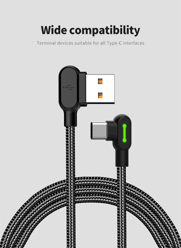 1.8m Mcdodo Buttom Series Elbow Head Design Charging Gaming Cable Type-C Cable
