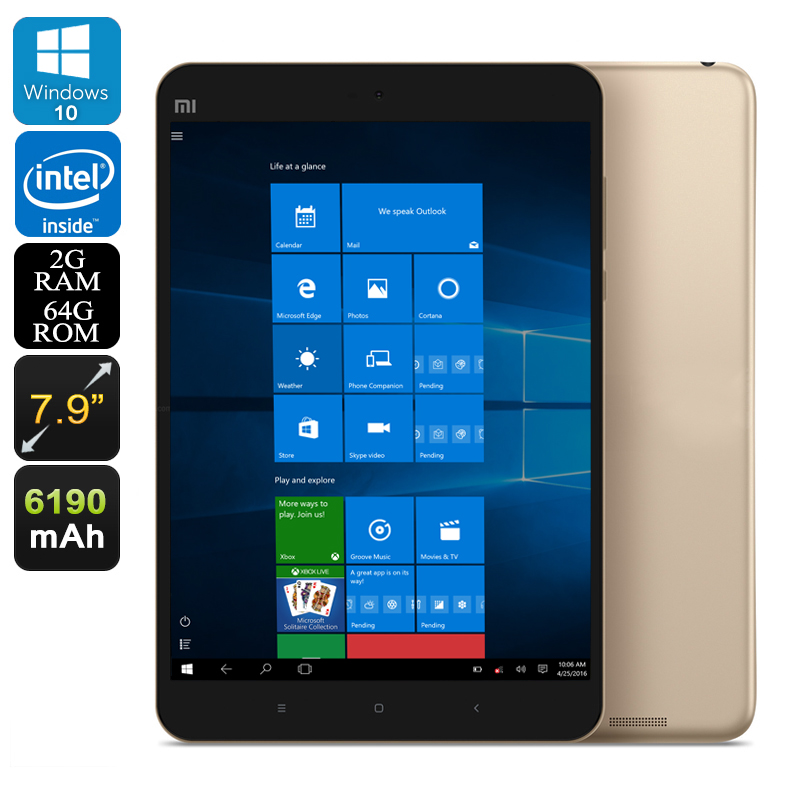 Xiaomi Mi Pad 2 Windows Tablet 64GB (Gold)