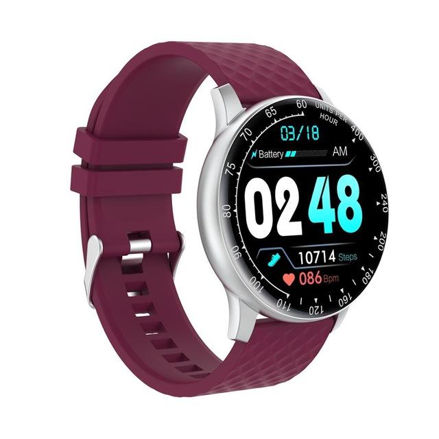 H30 Smart Bracelet Waterproof Blood Pressure Heart Rate Monitor Watch purple