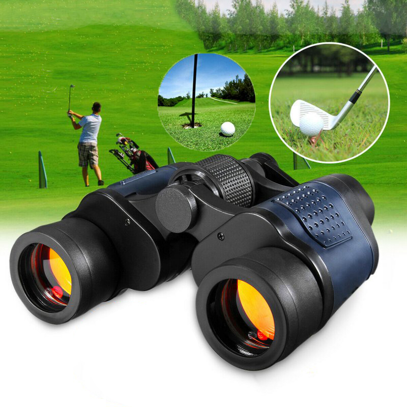 60x60 Day/Night Telescope Zoom Ultra HD Binoculars for Hunting Camping black