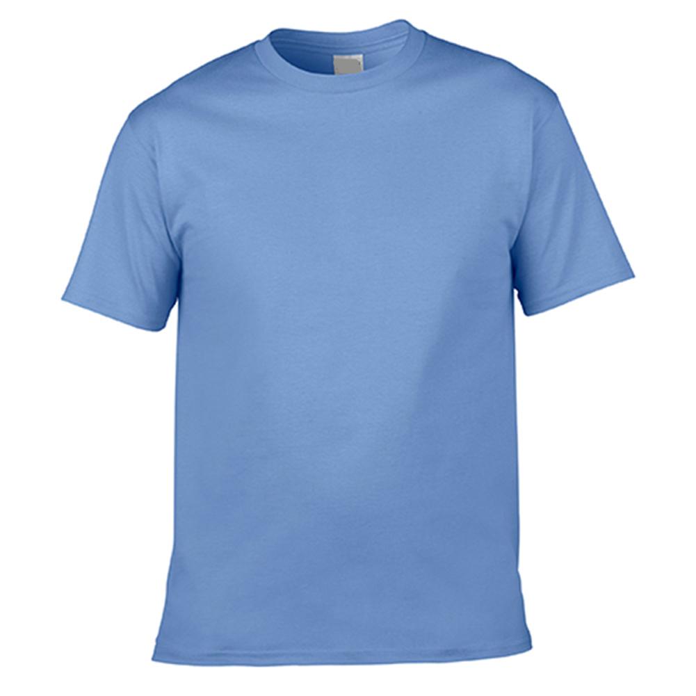 Men Cotton Round Collar Short Sleeve Base Shirt