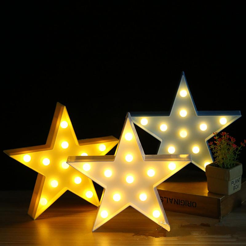 [EU Direct] Creative Energy Saving Star Night LED Light 3W Warm White Light White