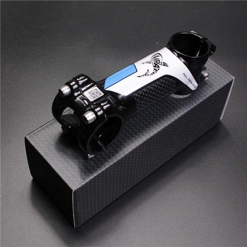 Pura Raza Half-carbon Fiber Bike Stem Upright Tube blue_80mm