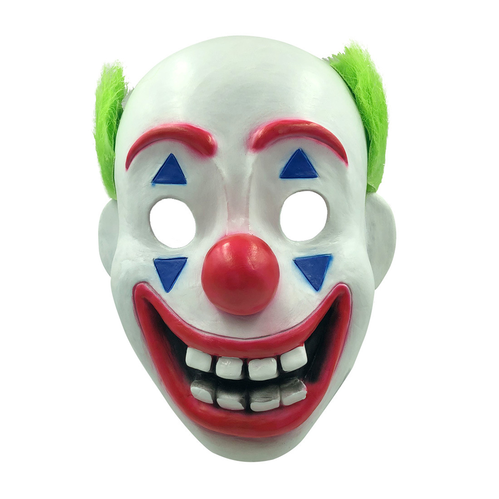 Men Creepy Clown Mask Scary Dance Dress Costume Party Props for Halloween