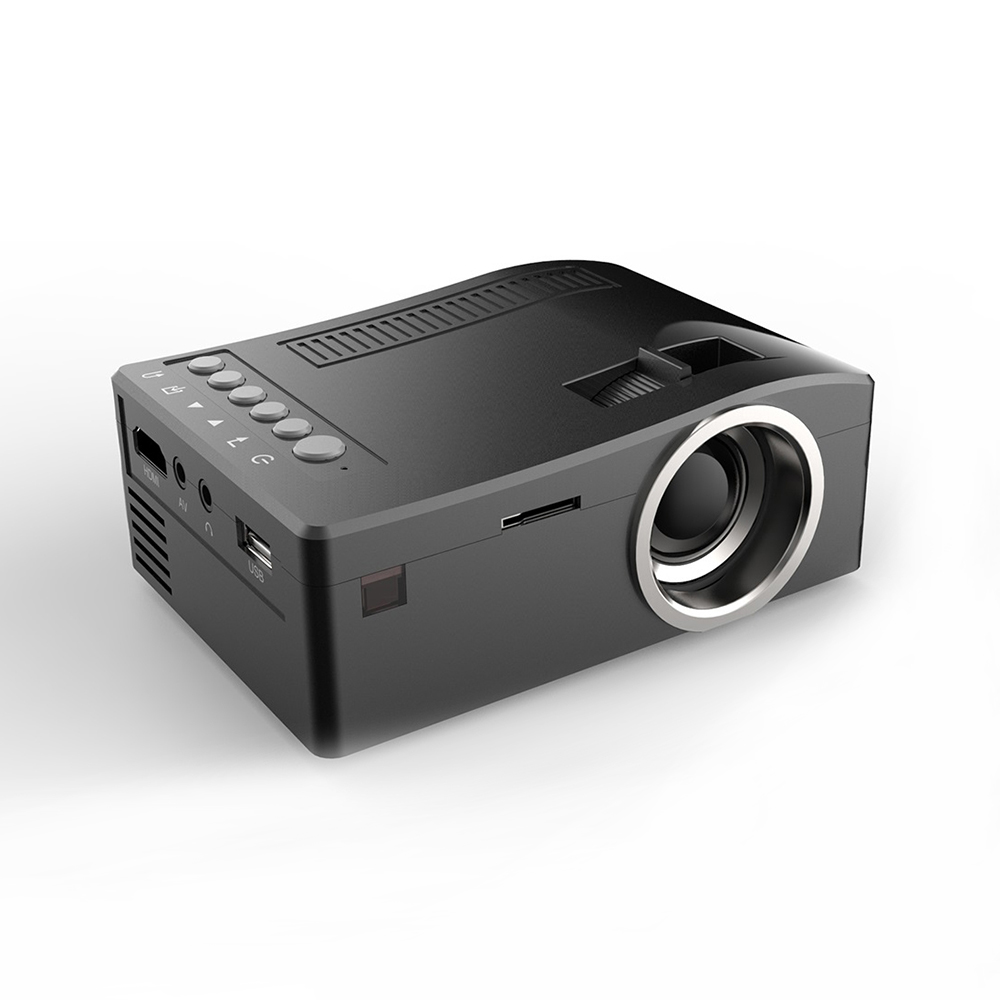 HD 1080P TFT LCD Home Mini Projector  US Plug