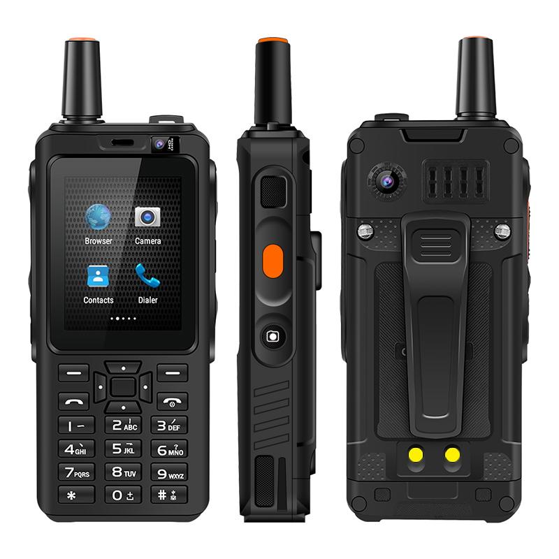 UNIWA F40 MT6763 Quad Core 2.4 inch Android 6.0 1GB+8GB 4000mAh 2G/3G/4G IP65 Direct Charge Walkie-talkie ShapedSmart Mobile Phone black_US Plug