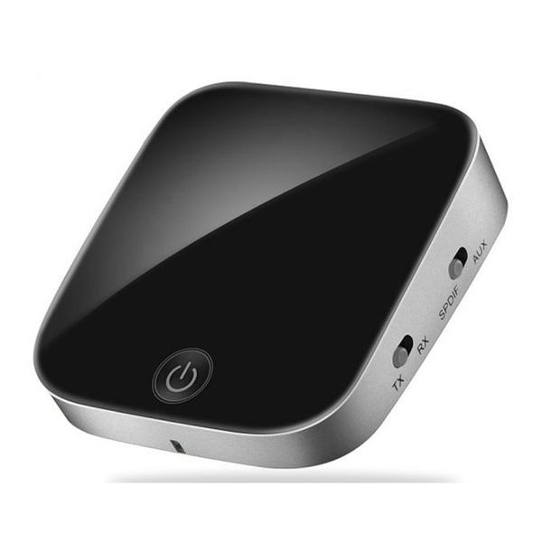 2-in-1 Bluetooth 5.0 Audio Transmitter Receiver CSR8675 Aptx HD Adapter Optical Toslink/3.5mm AUX/SPDIF for Car TV Headphones black