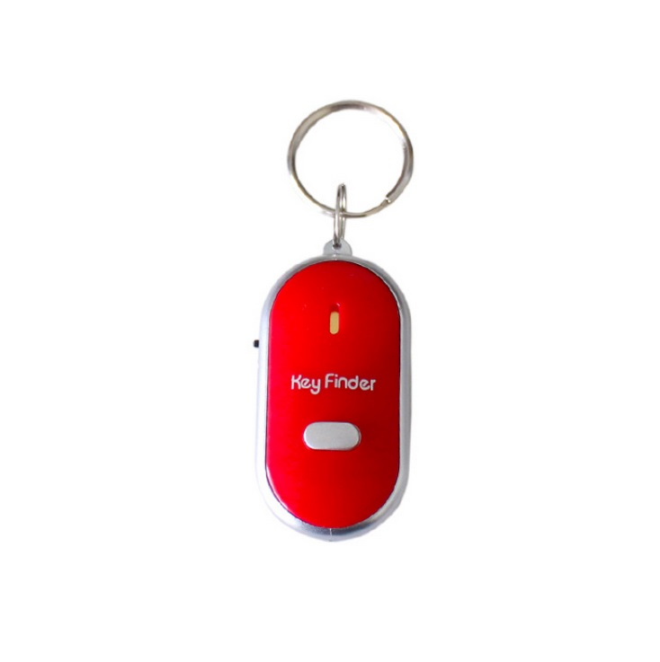 Mini Whistle Anti Lost Key Finder Wireless Smart Flashing Beeping Remote Lost Keyfinder Locator with LED Torch red