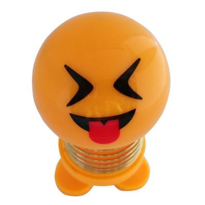 14 Coils LED Dolls Car Shaking Head Emoji Wobble Head Toys Spring Nod Dolls Car Decoration 2
