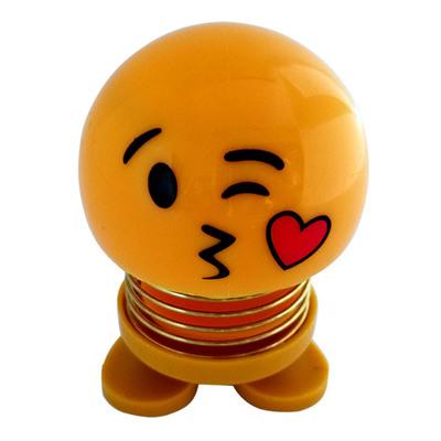 14 Coils LED Dolls Car Shaking Head Emoji Wobble Head Toys Spring Nod Dolls Car Decoration 10