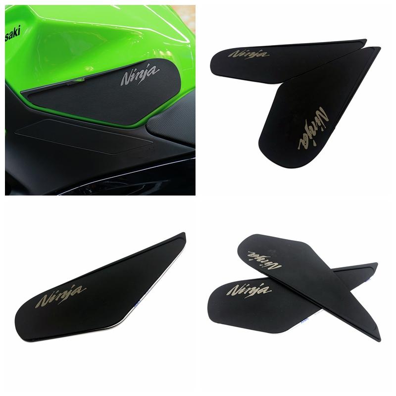 Motorcycle Traction Side Pad Knee Grip Decal Protective Stickers for KAWASAKI NINJA400  black