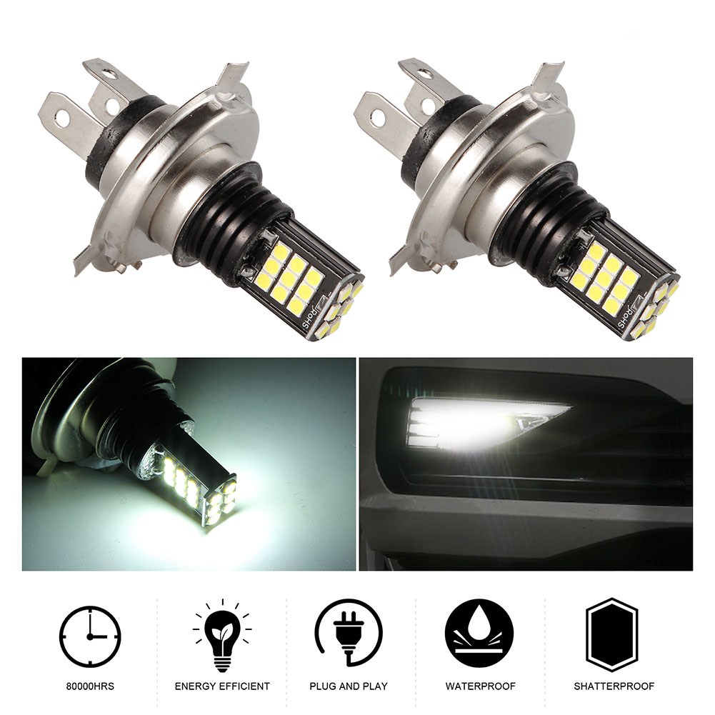 2pcs/set H4/9003 8 Rows 24SMD High Brightness LED Anti-fog Lights Bulb