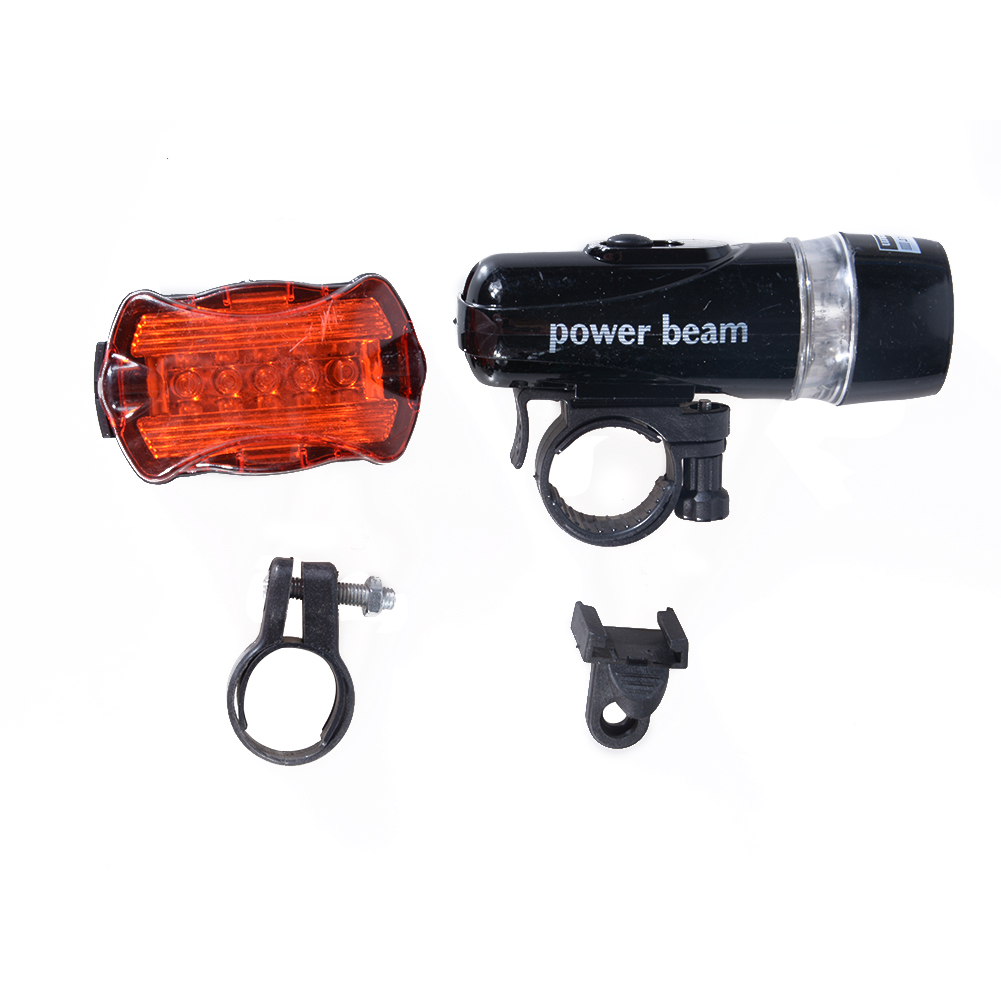 Bicycle Accessories Bike Lights Super Bright 5 LED Headlight 5 LED Changeable Taillight Set