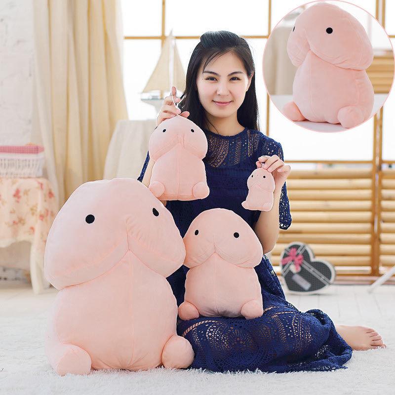 Creative Plush Little Dingding Pillows Stuffed Toys Plush Dolls Cartoon Girlfriend Funny Gift