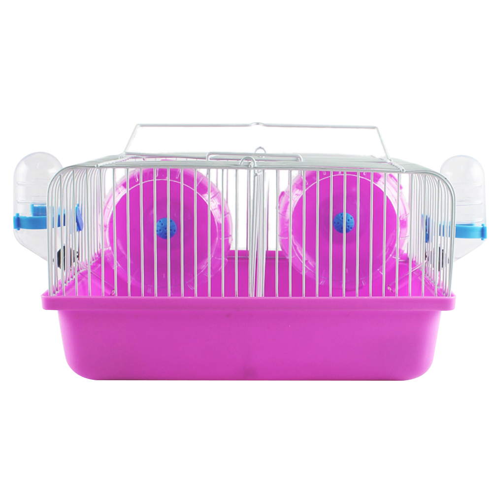 27*20*15CM Eco-friendly Hamster Cage Date Box for Small Hamster Guinea Pigs  red_27*20*15CM