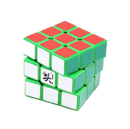 Da Yan Gu Hong 3*3*3 Magic Cube Second Generation Puzzle Cube Toy -Green