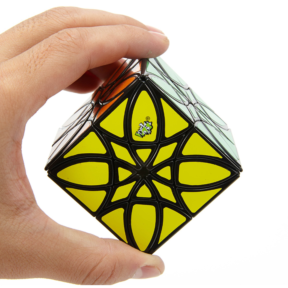 Lanlan Magic Cube Butterflower Cube Abnormity Cube Educational Toy  Black background