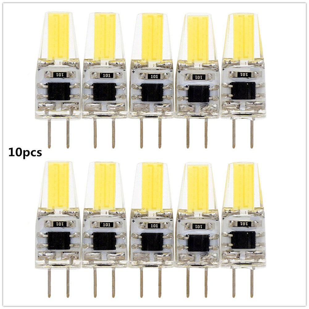 10pcs G4 LED Bulb 3W/5W 12V LED COB Bulb Replace Halogen Lamp High Bright for Chandelier  Warm White