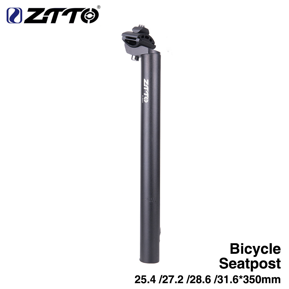 Bicycle Seat Post Tube Bike Superlight Seatpost Road Mountain Bike Mtb Fixed Gear Bicycle Parts 28.6 * 350MM