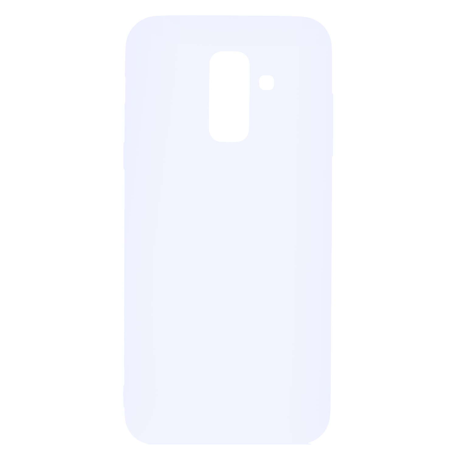 for Samsung A6 plus 2018 Lovely Candy Color Matte TPU Anti-scratch Non-slip Protective Cover Back Case white