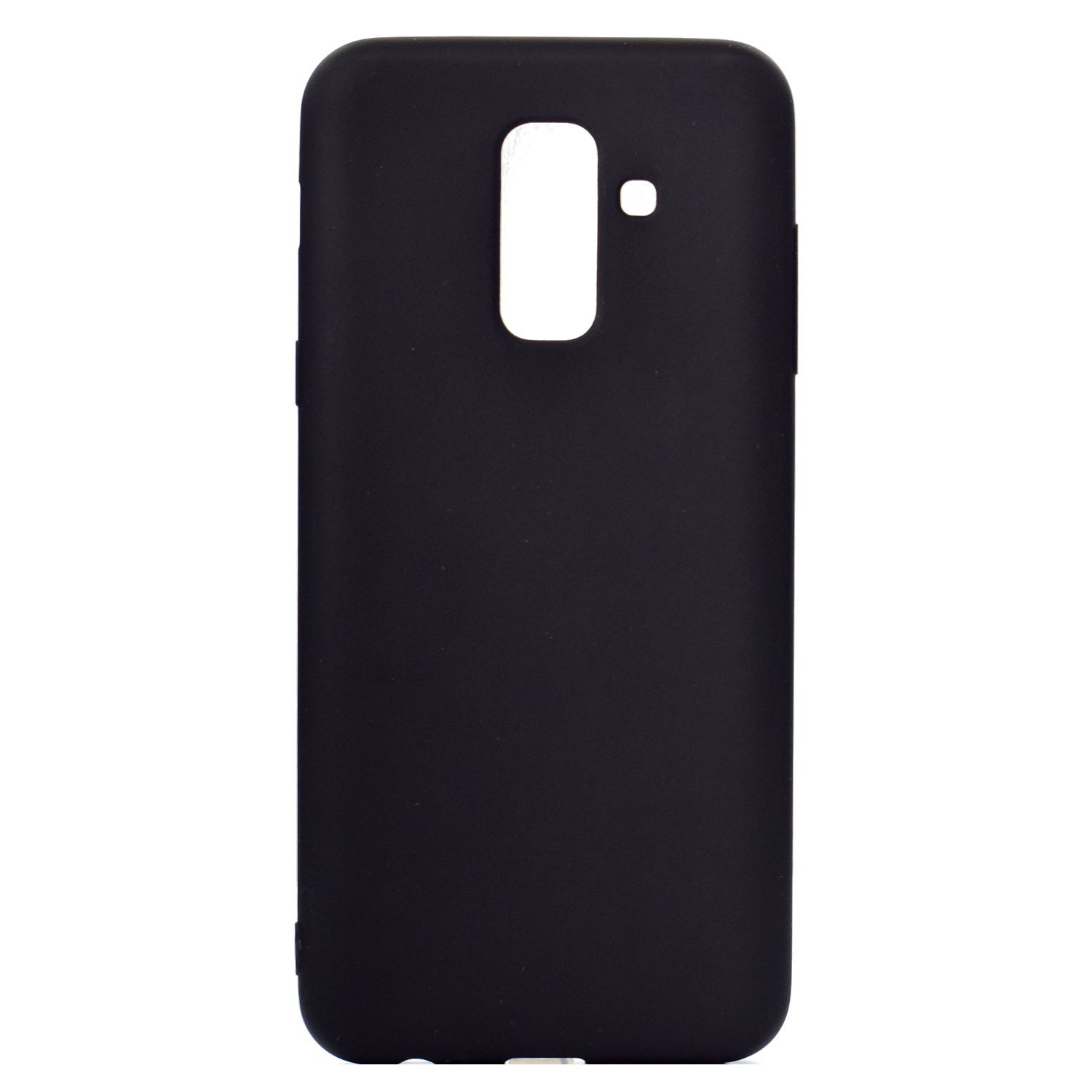 for Samsung A6 plus 2018 Lovely Candy Color Matte TPU Anti-scratch Non-slip Protective Cover Back Case black