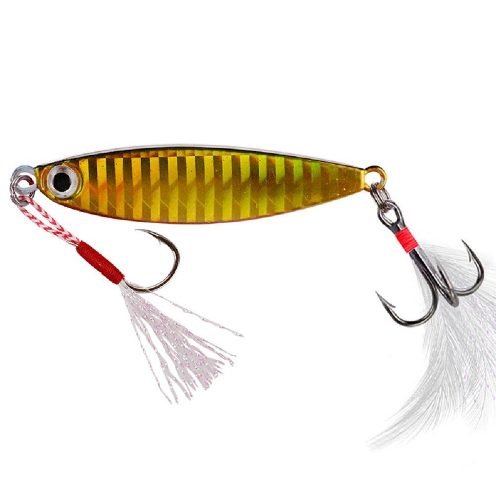 Fishing Lure fishing jigging lure spoon spinnerbait Sheet Iron All Metal Mini Lead Fish Fishing Lure Trolling 7g10g15g20g No. 3 color_10g