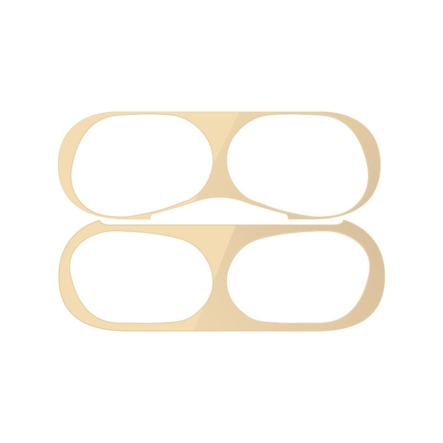 Dust-proof Protective Film for AirPods Pro Ultra-thin Skin Cover Metal Plated Sticker Earphone Dust Guard  gold