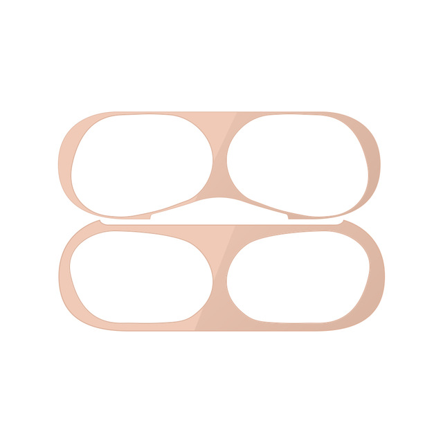 Dust-proof Protective Film for AirPods Pro Ultra-thin Skin Cover Metal Plated Sticker Earphone Dust Guard  rose gold