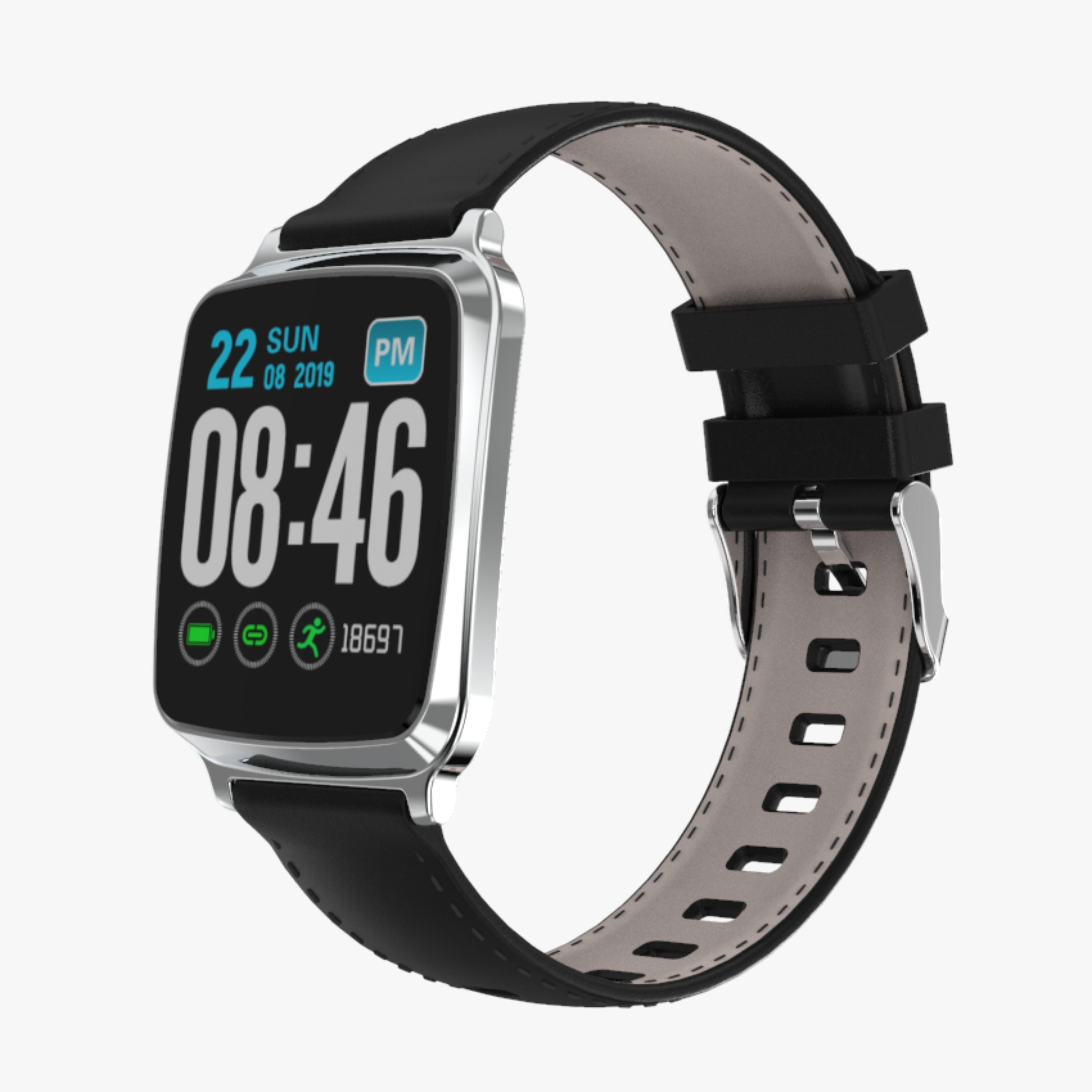 Ultra-thin Fashion M8 Fitness Tracker IP67 Waterproof Blood Pressure Sports Call Reminder Bluetooth Smart iOS Watch Silver