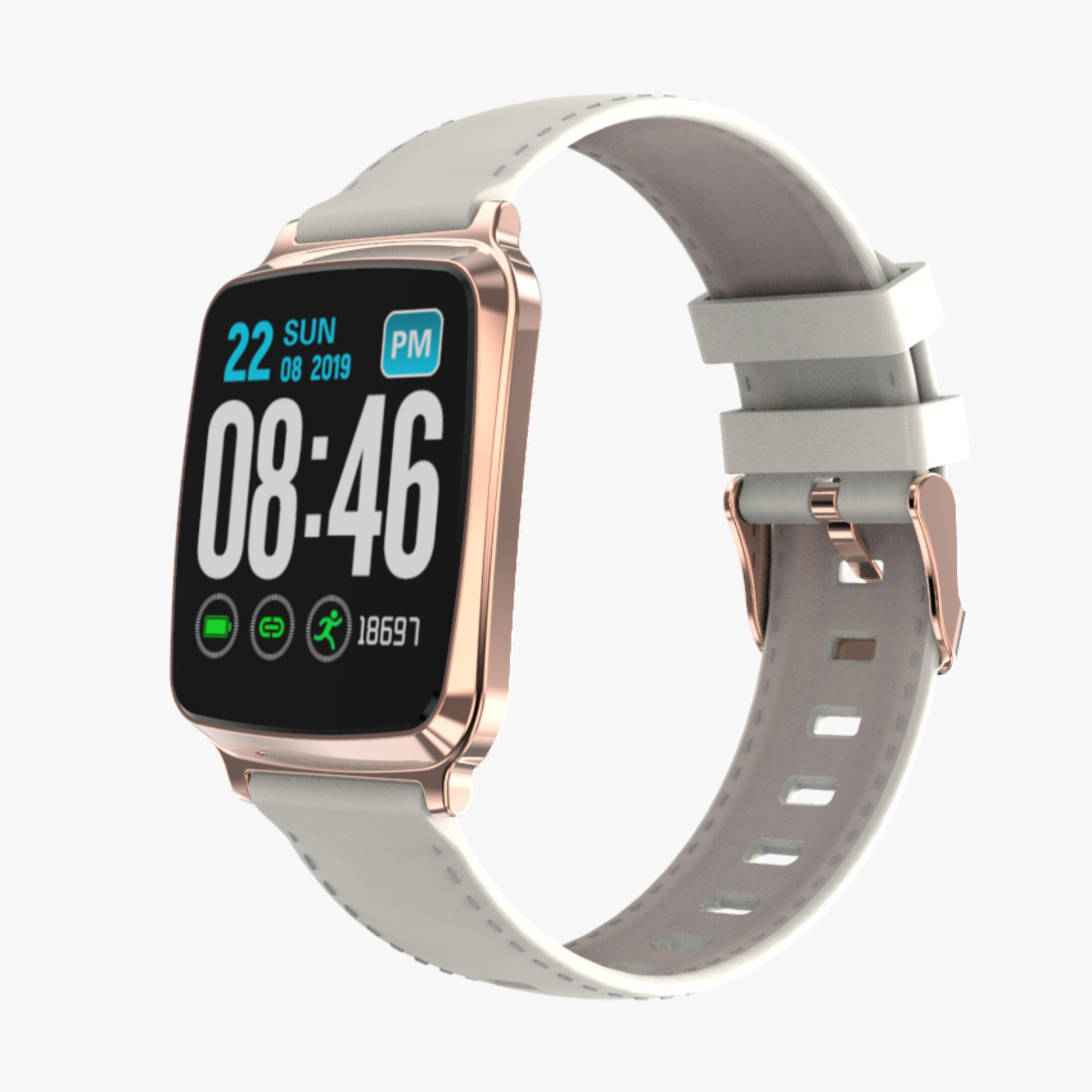 Ultra-thin Fashion M8 Fitness Tracker IP67 Waterproof Blood Pressure Sports Call Reminder Bluetooth Smart iOS Watch Gold