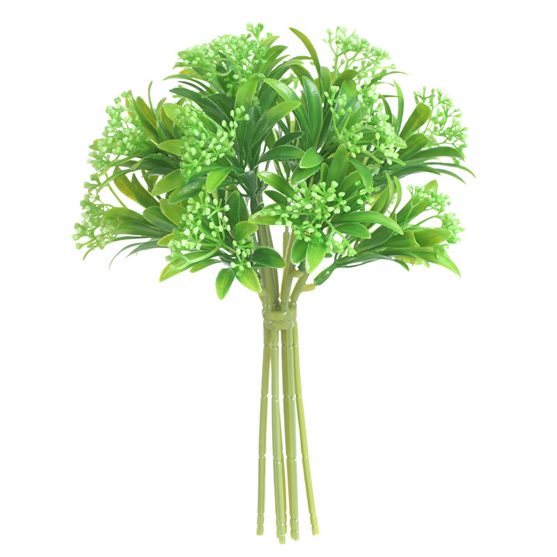 Simulation Siraitia Plastic Flowers And Plants Handmade Craft Decoration Home Decoration Photography White and green