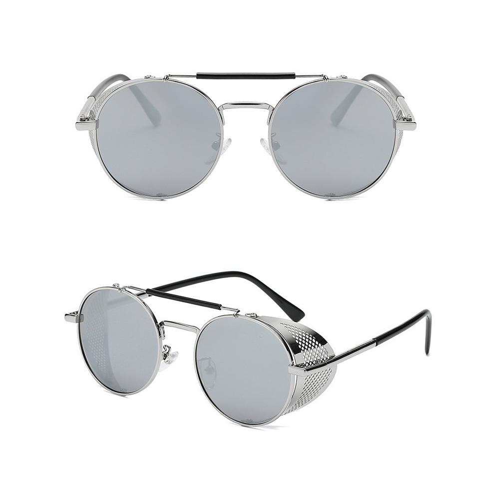 Outdoor Fashion Sunscreen Glasses TAC Lens Polarized/Not Polarized Glasses for Outdoor Sports Silver frame mercury film_Polarized light