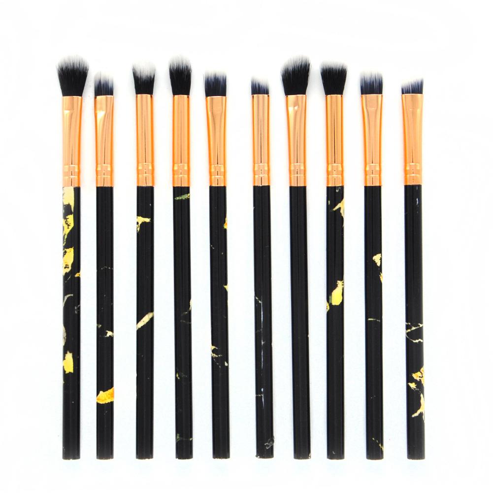 10pcs/set Marbling Handle Makeup Brushes Face Eyeshadow Foudation Eye MakeUp Brushes Tools