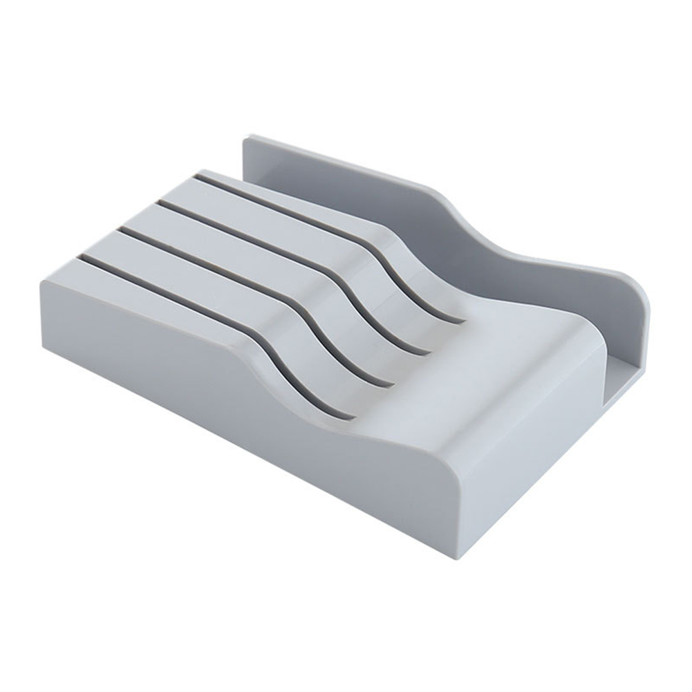 Kitchen Storage Rack for Cutter Stand Cutting Board Cabinet Tray Organizer  gray