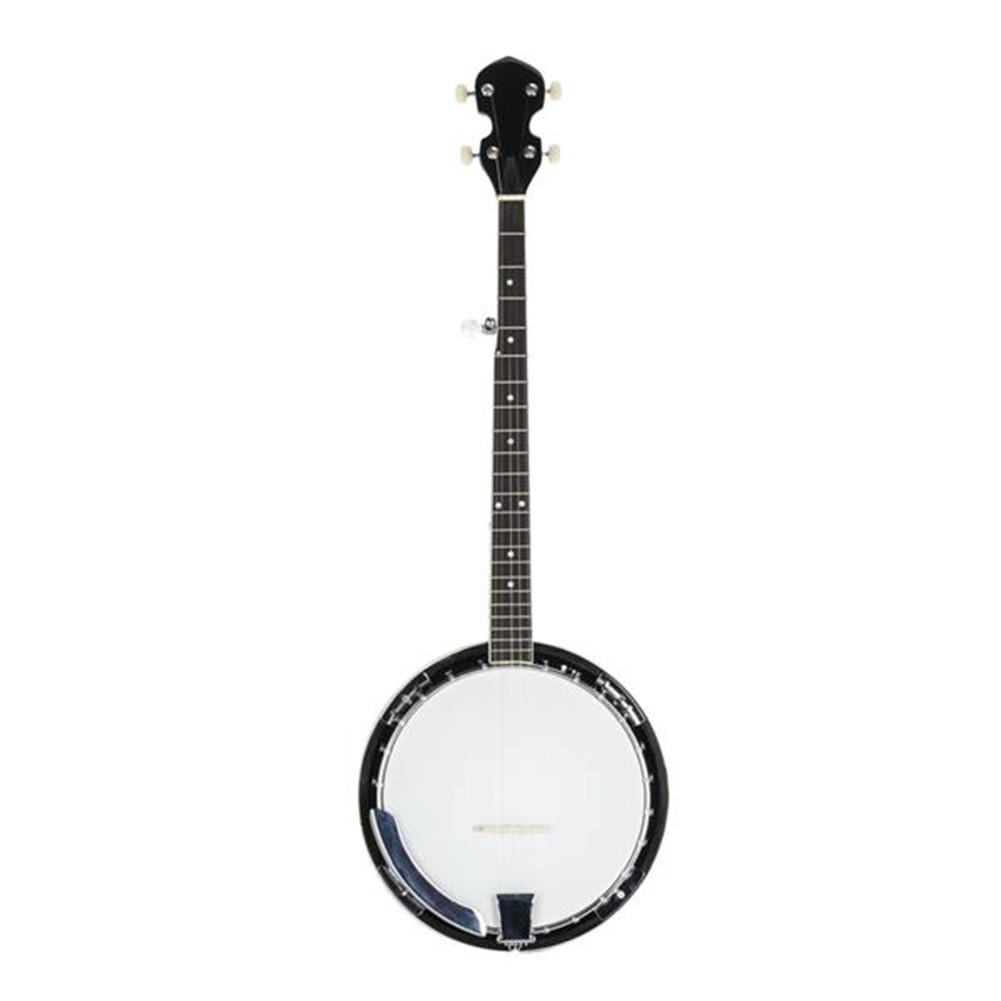 [US Direct] 1 Set Sapele And Metal Sapele 5-string Banjo + Screwdriver Tool + Wrench Tool black