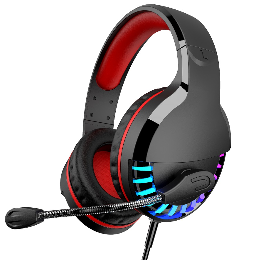 Gaming Headphones M18 3.5MM+USB Stereo Earphones Headset with Microphone forLaptop/PC Tablet Gamer Colorful glow