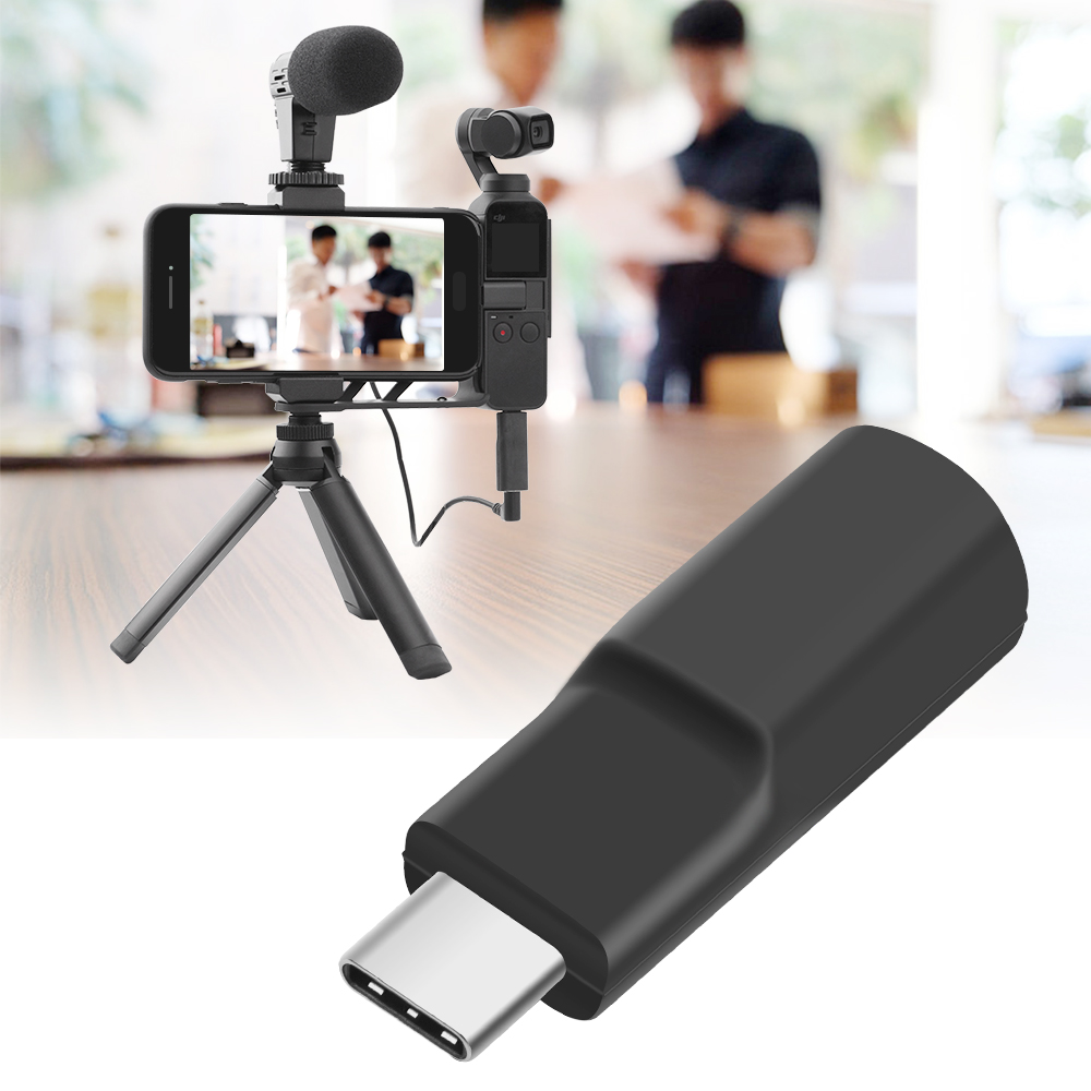 Audio Adapter Connector for DJI OSMO Pocket Handheld Gimbal Accessiories black