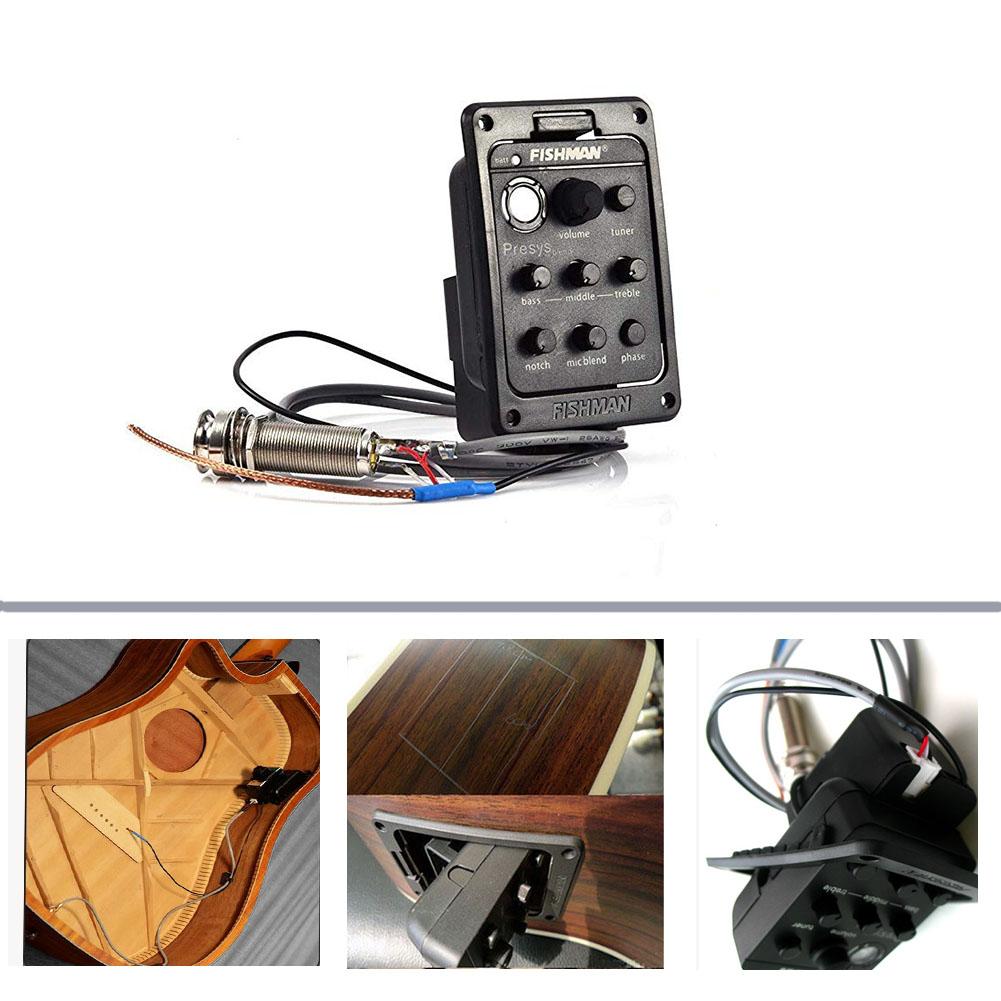 Mic Blend Dual Model Guitar Preamp EQ Tuner Piezo Pickup Beat Guitar Parts Accessories