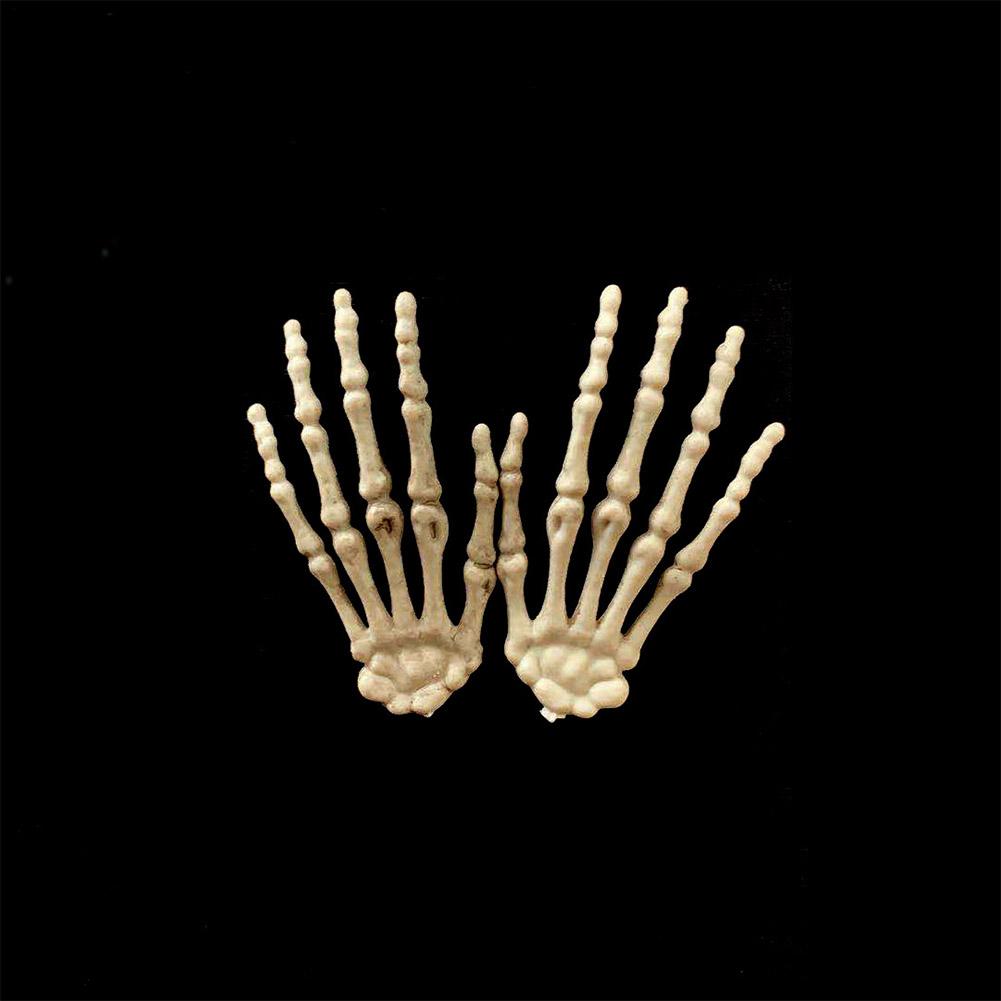 1 Pairs Halloween Skeleton Hands Model for Halloween Decoration Terror Scary Props  8.5*4cm