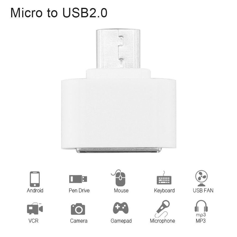 OTG Adapter USB OTG Converter Head SD Card Reader Connection Kit white