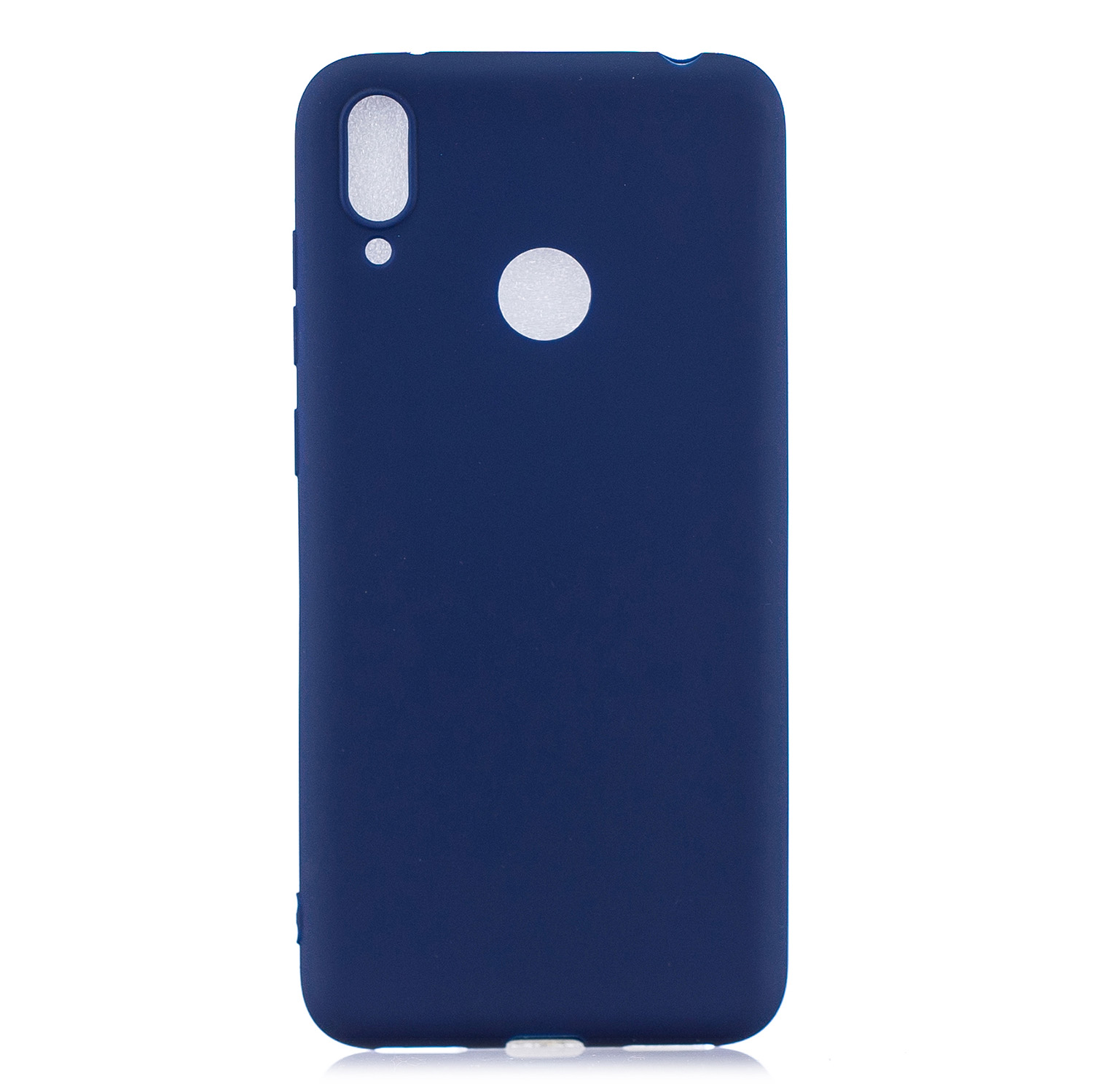 For HUAWEI Y7 2019 Lovely Candy Color Matte TPU Anti-scratch Non-slip Protective Cover Back Case Navy
