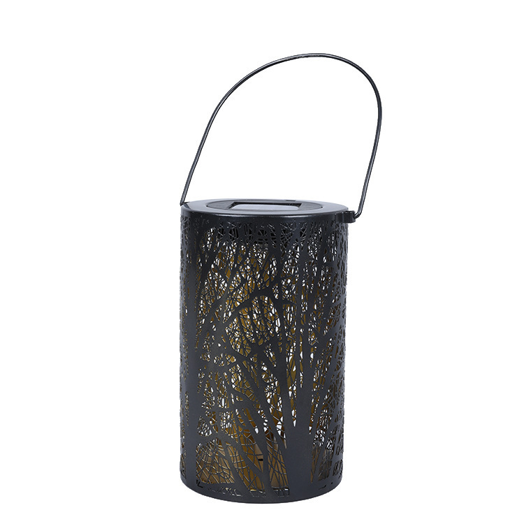 LED Solar Lantern Metal Hanging Lights for Outdoor Garden Yard Tabletop Patio Lawn Decor warm light_Tree light