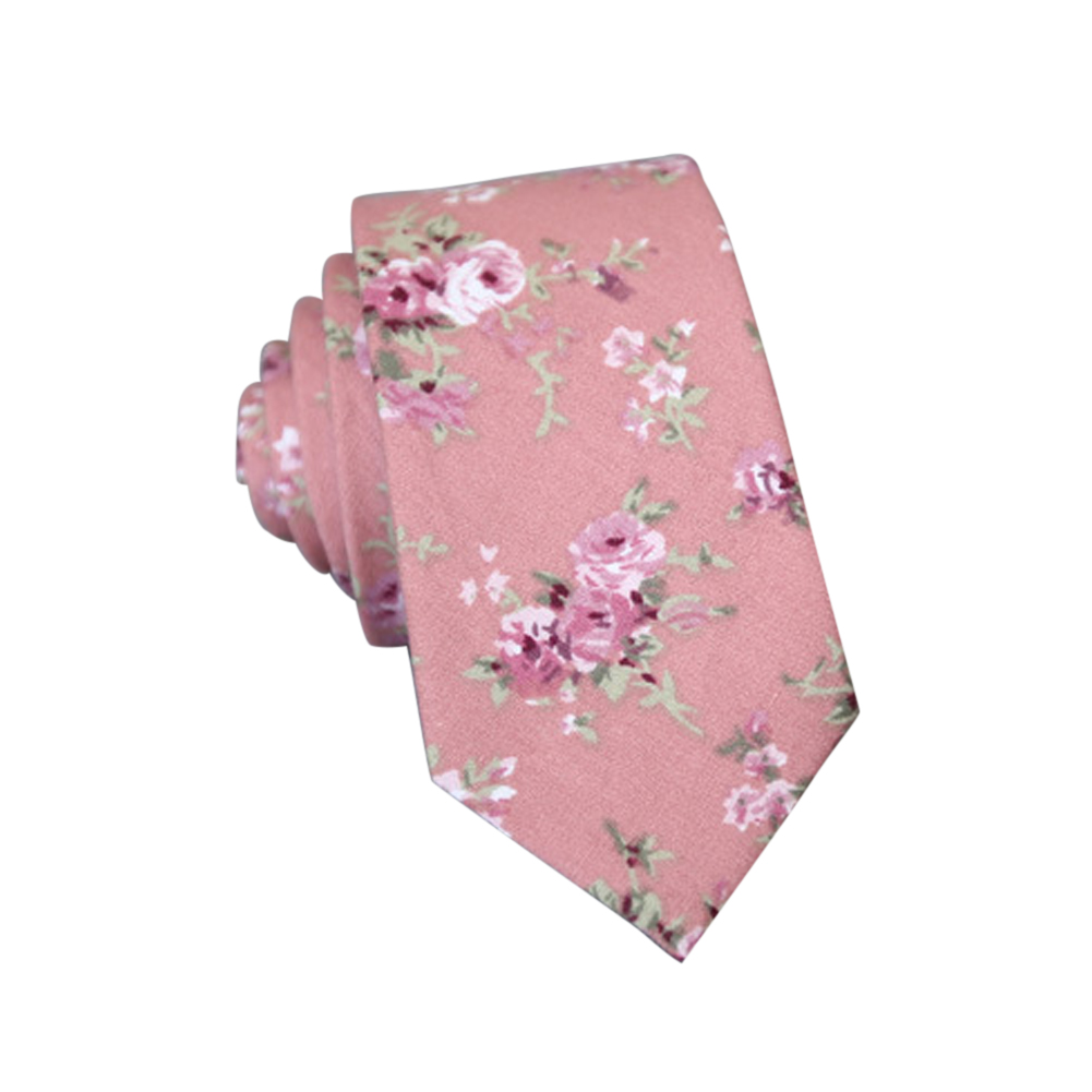 Men's Wedding Tie Floral Cotton Necktie Birthday Gifts for Man Wedding Party Business Cotton printing-050