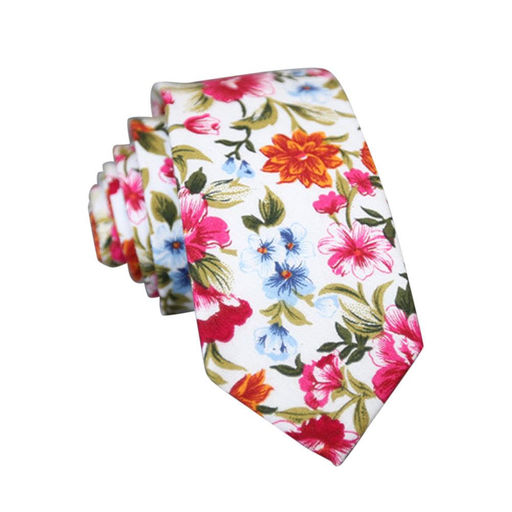 Men's Wedding Tie Floral Cotton Necktie Birthday Gifts for Man Wedding Party Business Cotton printing-052