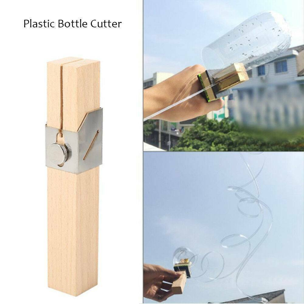 DIY Bottle Cutter Rope Cord Strip Maker Tool for Outdoor Home Wood color