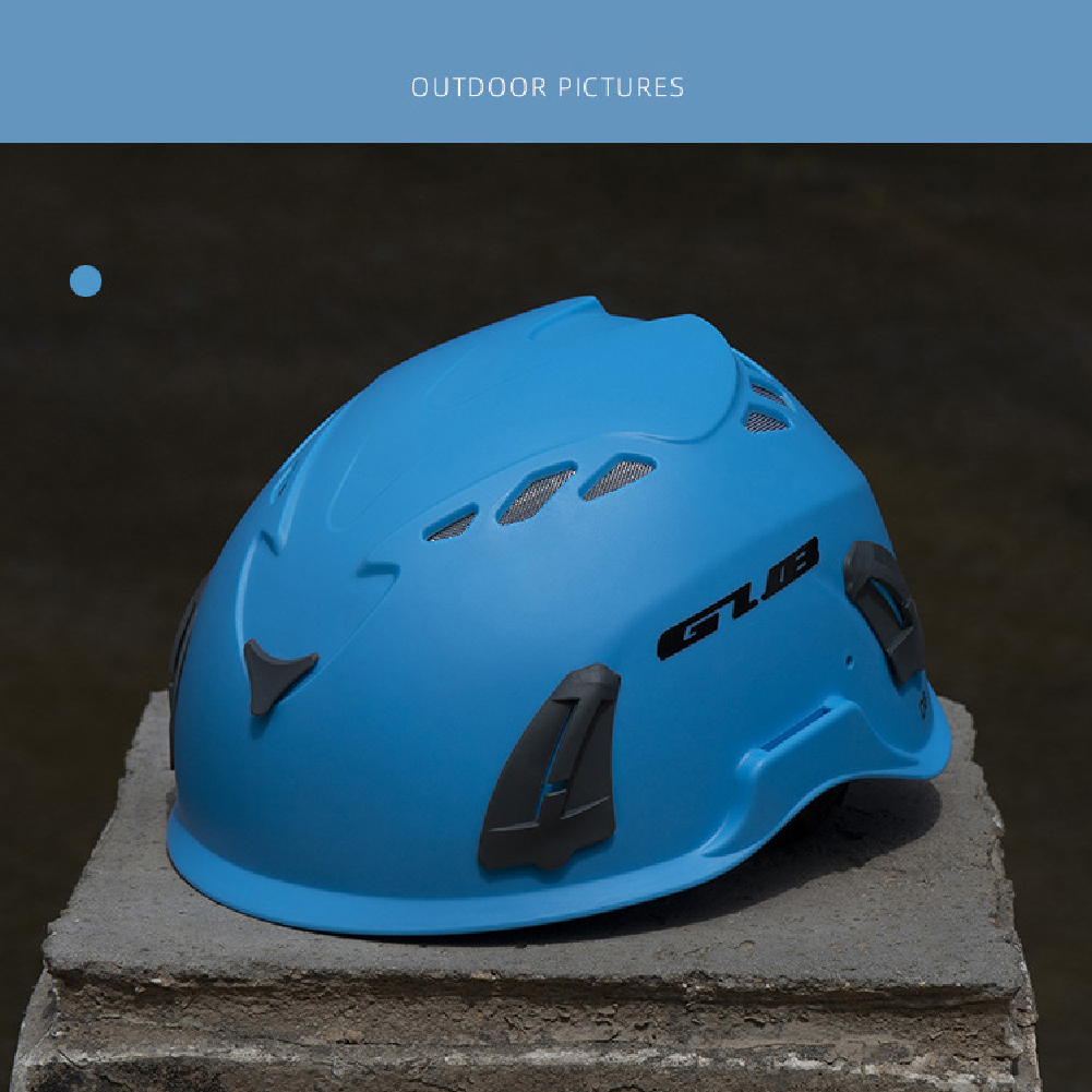 Climbing Helmet Professional Mountaineer Rock MTB Helmet Safety Protect Outdoor Camping Hiking Riding Helmet Blue (56cm-62cm)