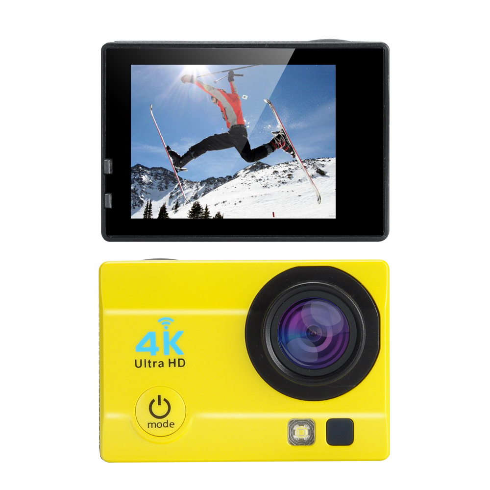 Купить со скидкой Q3H Waterproof 4K Sports Camera - Wi-Fi, 16MP, 170 Degree Wide Angle, 4X Digital Zoom, 2 Inch LCS Sc